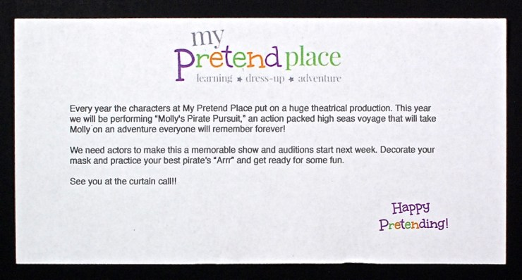 My Pretend Place letter