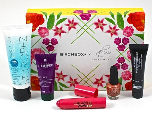 Birchbox August 2015 Candidly Nicole Box
