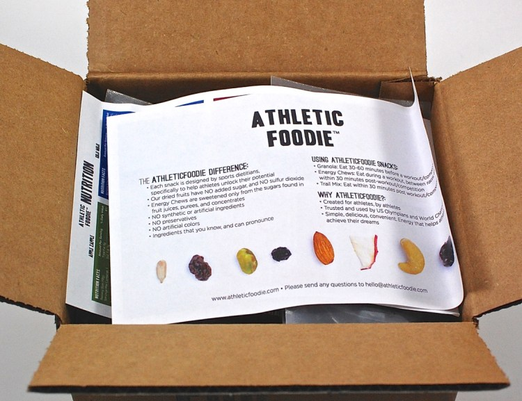 Athletic Foodie box