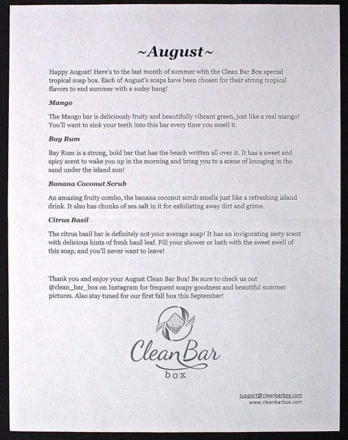 August 2015 Clean Bar Box
