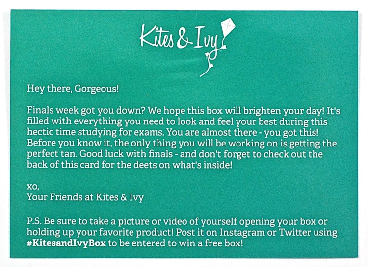 Kites & Ivy welcome