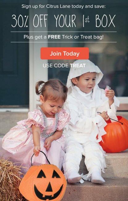 Citrus Lane FREE Halloween Treat Bag & 30% Off First Box