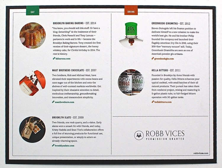 August 2015 Robb Vices