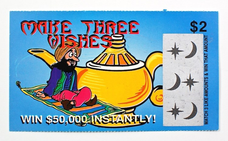 fake lotto ticket