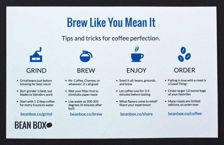 brewing card