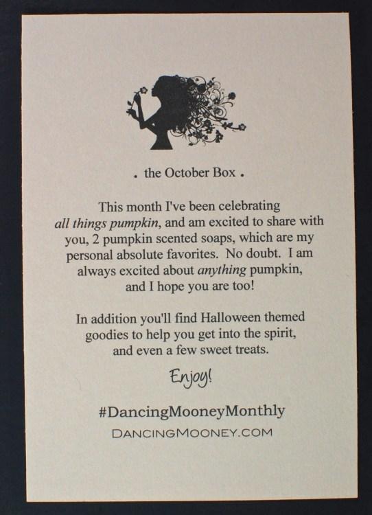 October 2015 DancingMooney box