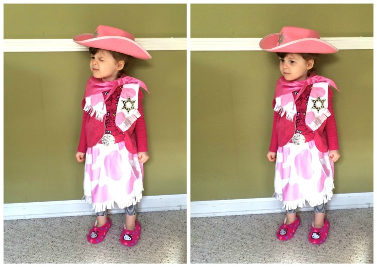 Evie Was NOT A Happy Camper Cowgirl At Least She Tried It On Though Cant Say The Same For Her Sister