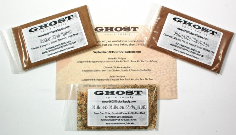 GHOST Spice Supply September 2015 GHOSTpack Review & Coupon Code