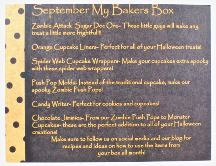 September My Bakers Box