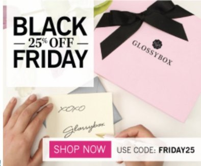 Glossybox black friday