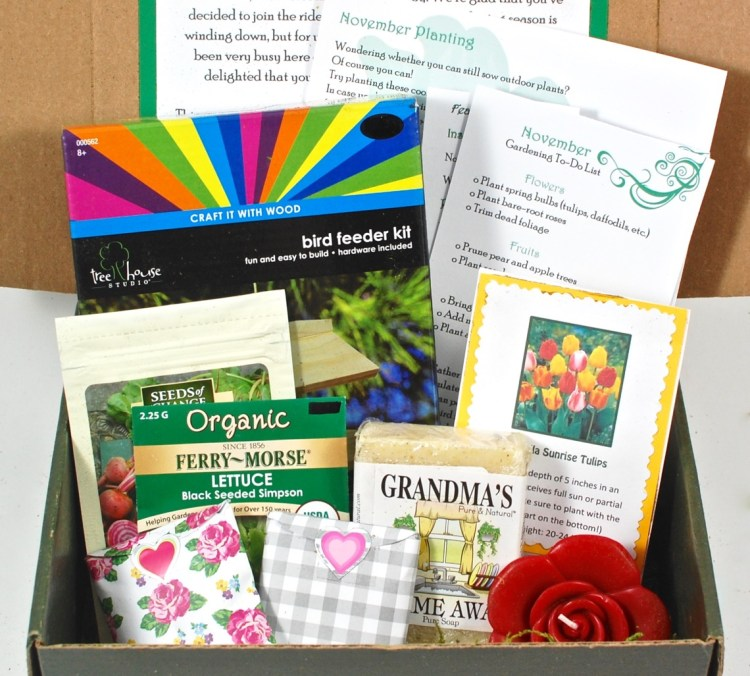 Jade Canopy November 2015 Garden Box Review & Coupon Code