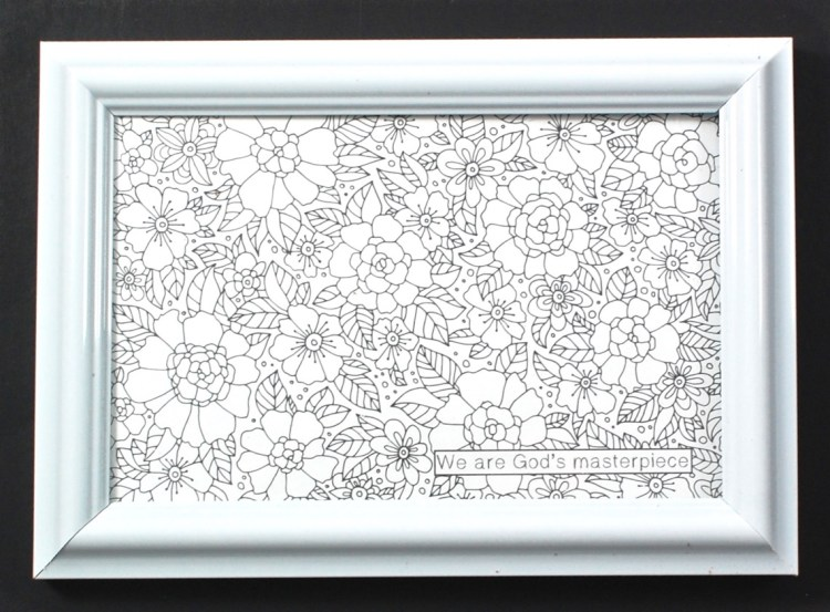 framed coloring page