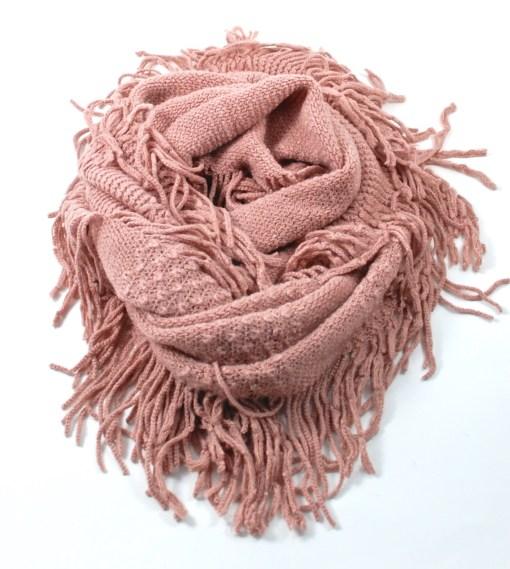 fringed infinity scarf
