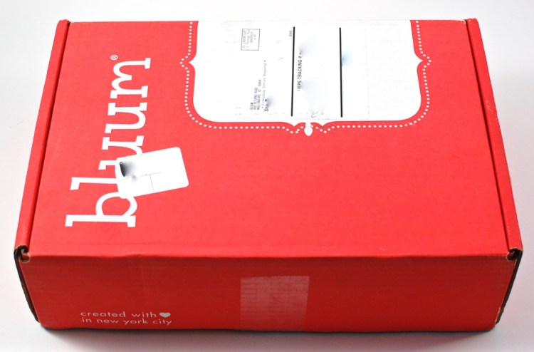 bluum December 2015 box