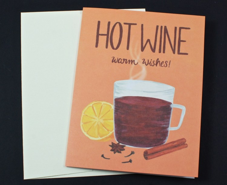 hot wine card