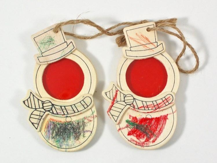 snowman frame ornaments
