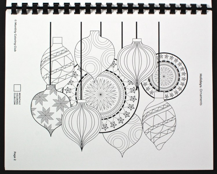 ornaments coloring sheet