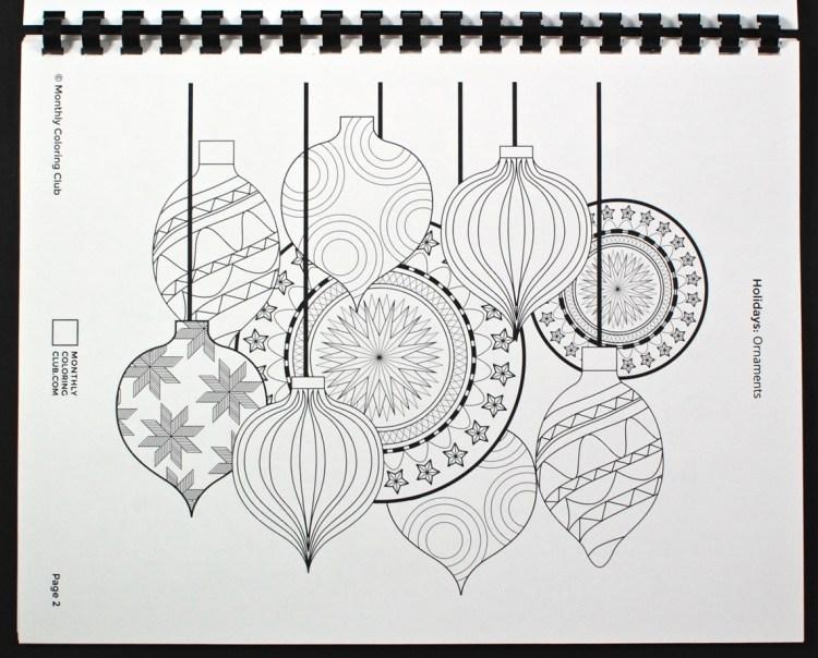 ornaments coloring sheet