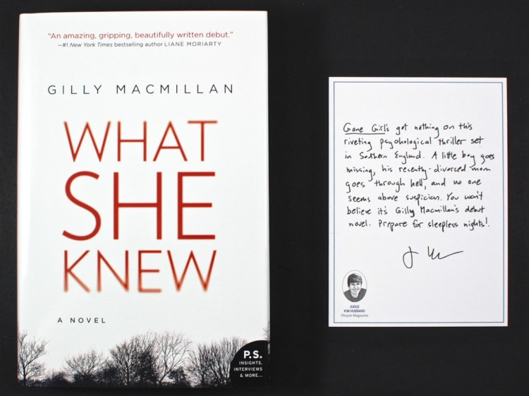 What She Knew novel