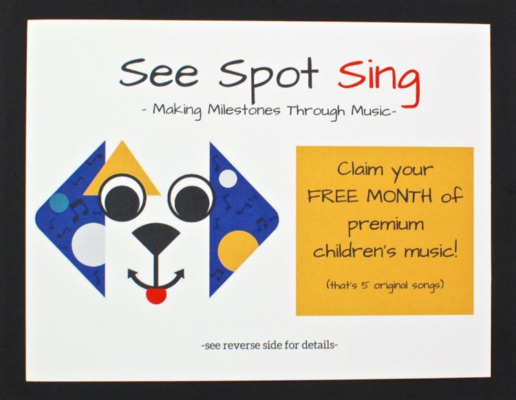 see spot sing