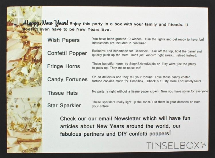 Tinsel Box New Year's