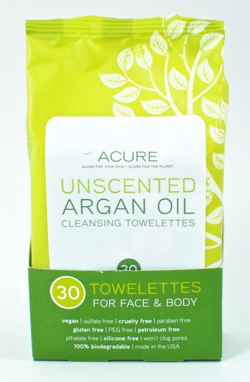 Acure argan oil wipes