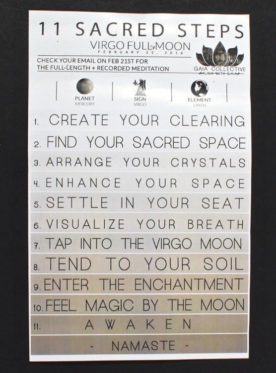 11 sacred steps