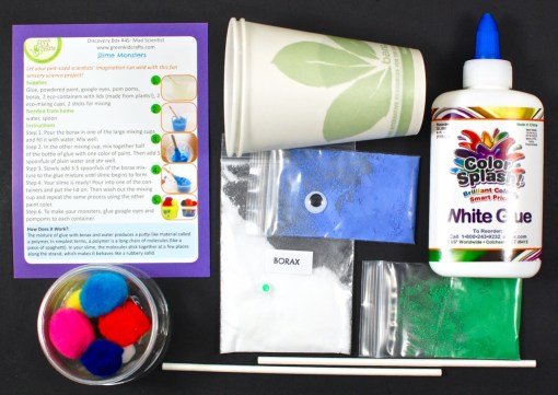 Green Kid Crafts slime monsters