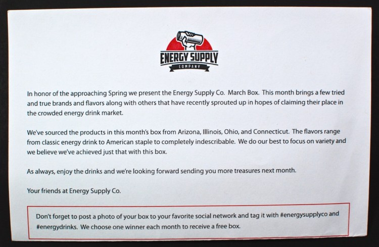 Energy Supply box review