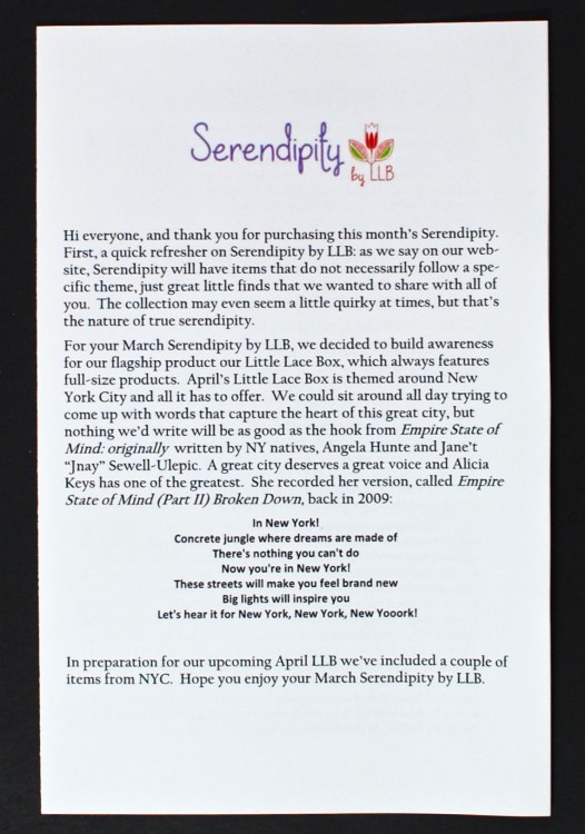 Serendipity by LLB review