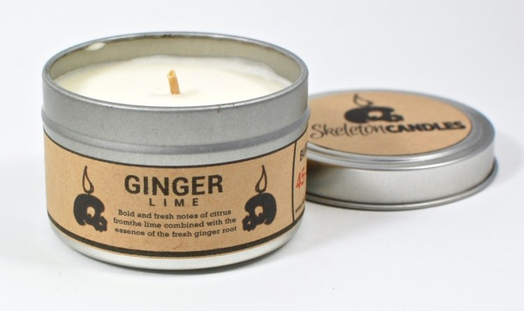 Skeleton Candles ginger lime