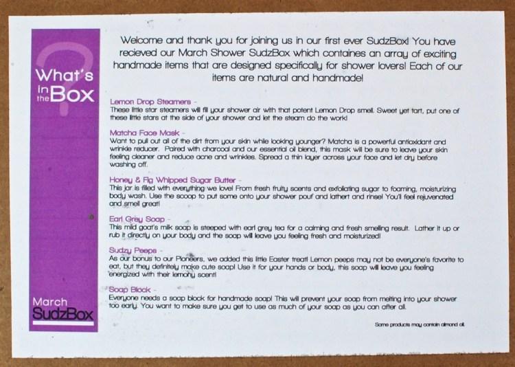 Suds & Scrubs box review