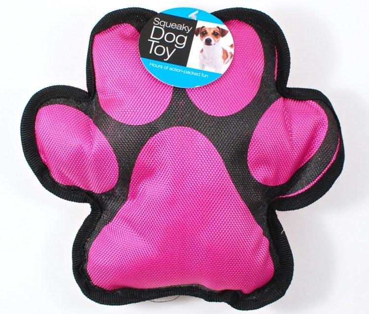 paw print dog toy