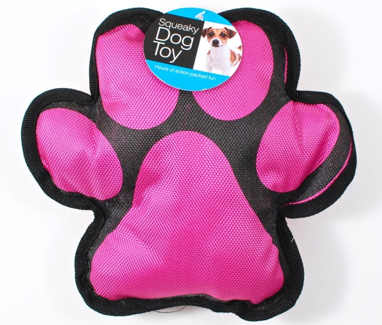paw print dog toy