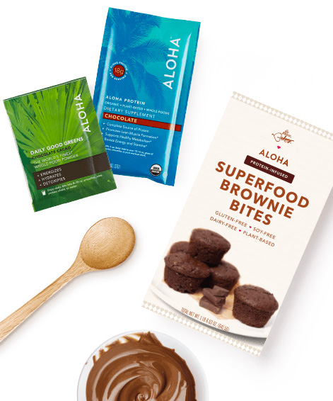 ALOHA super-food brownie bites kit