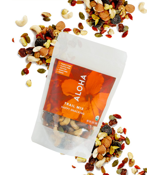 ALOHA trail mix snacks