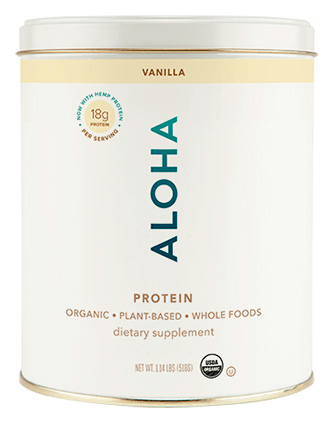 ALOHA vanilla protein powder kit