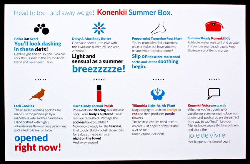 Summer 2016 Konenkii review