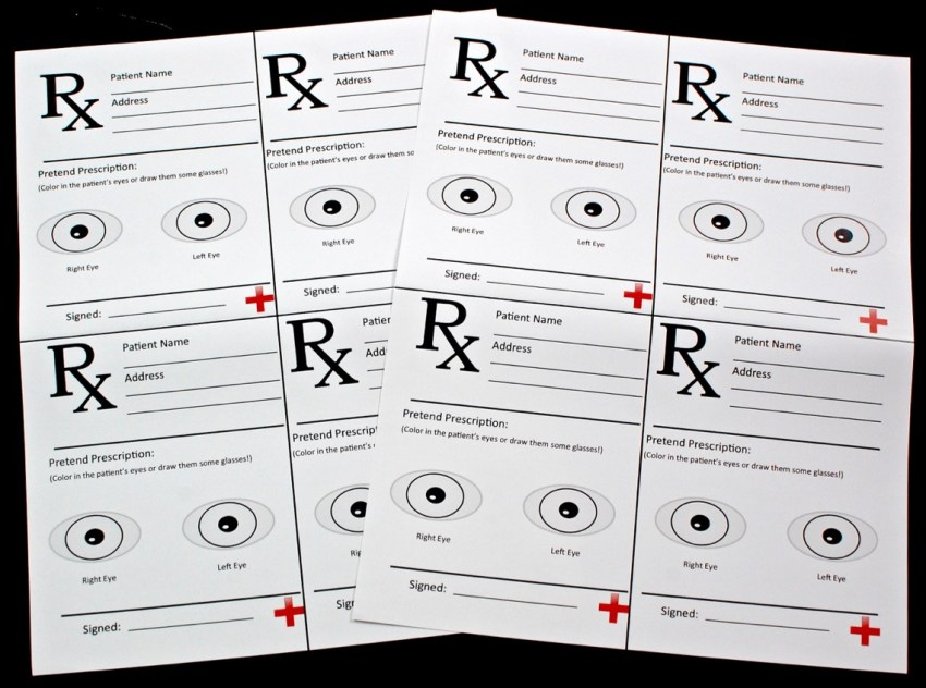 eye prescriptions