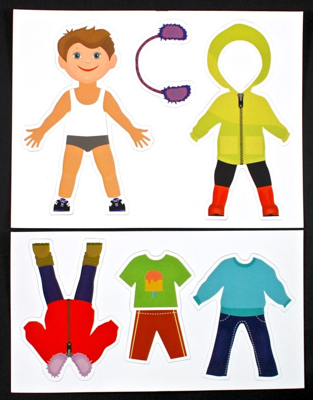 weather dress-up magnets