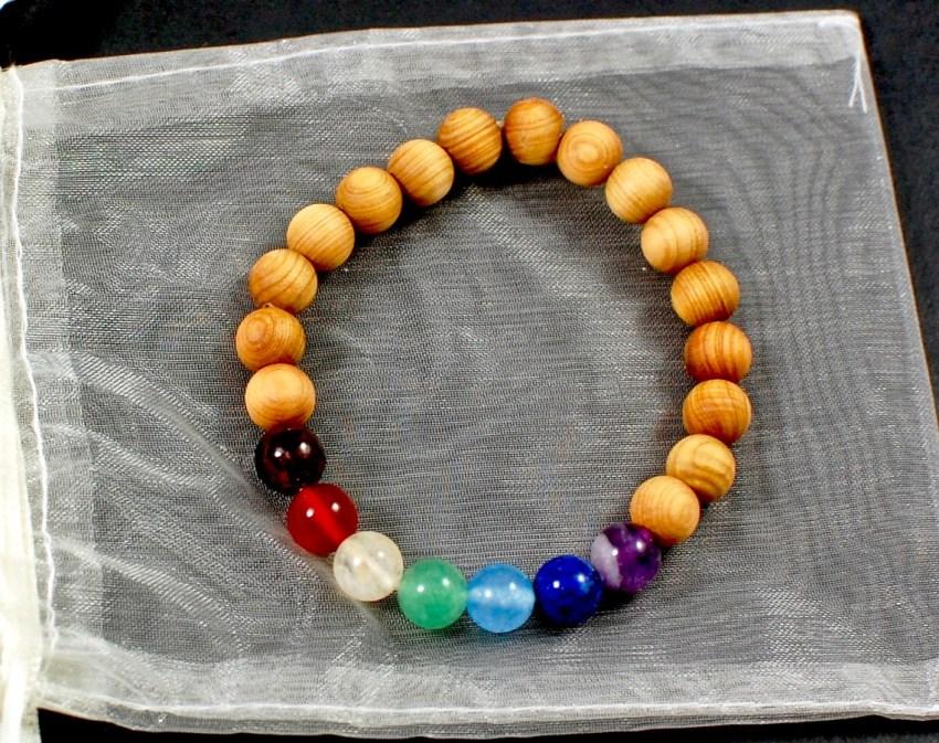 sandalwood chakra stone bracelet