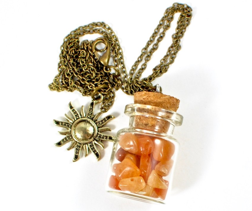 cork bottle necklace