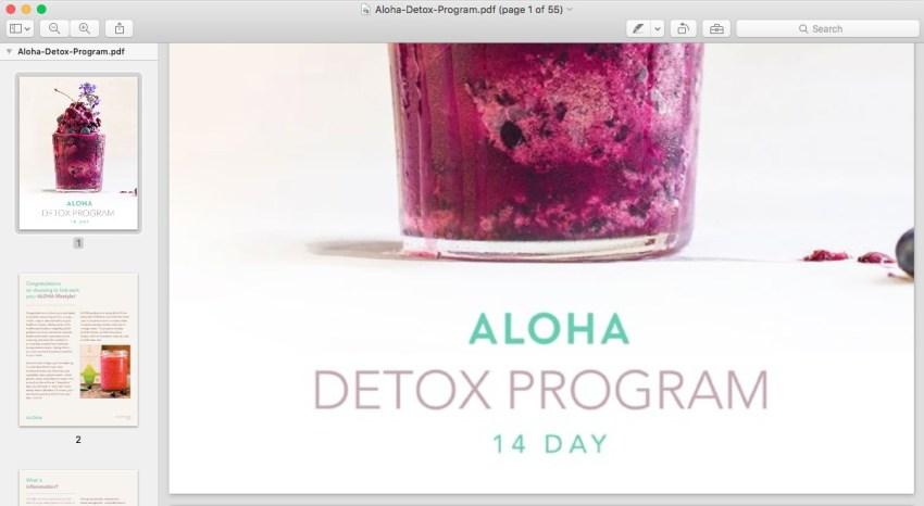 Aloha detox program