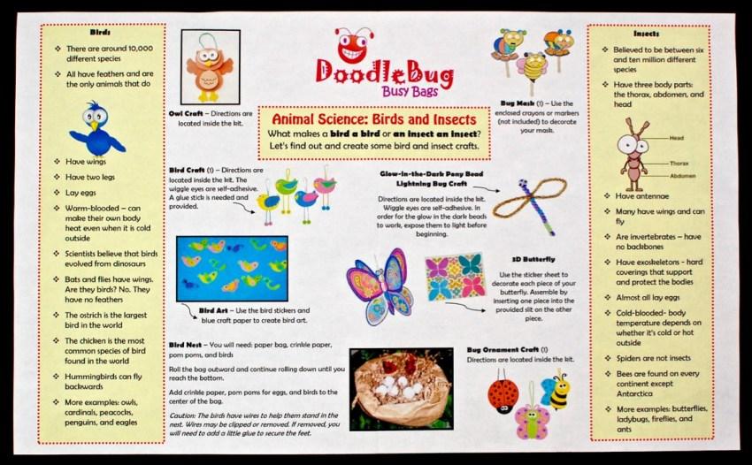 August 2016 Doodlebug Busy Bag