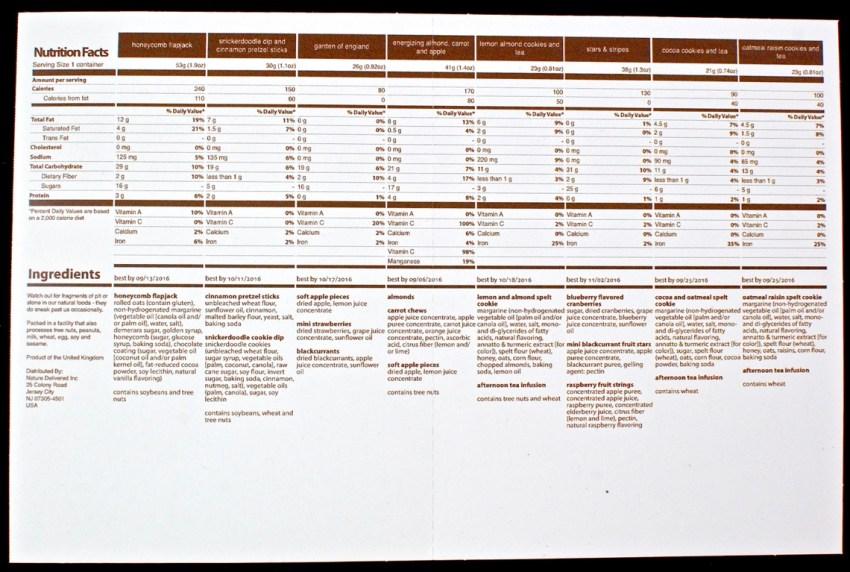 graze nutritional info
