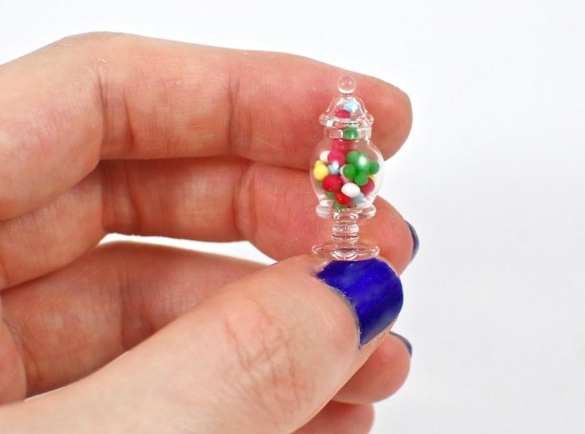 candy apothecary jar miniature