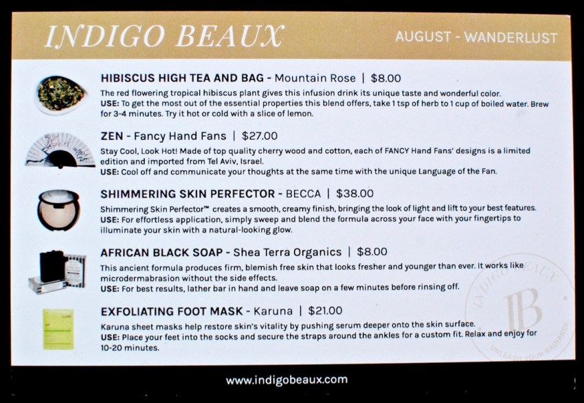 August 2016 Indigo Beaux review