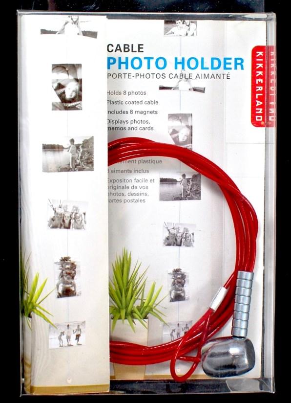 Kikkerland cable photo holder