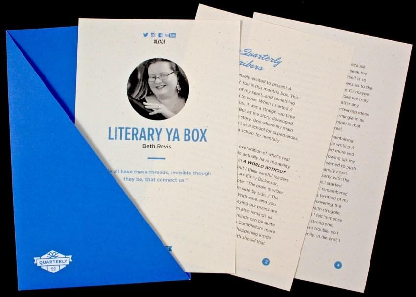 Beth Revis Literary YA box