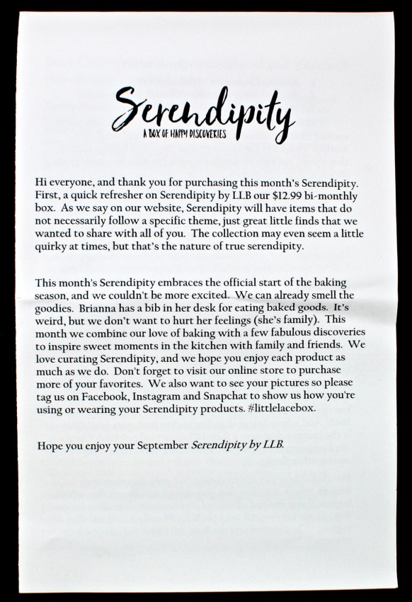 September 2016 Serendipity review